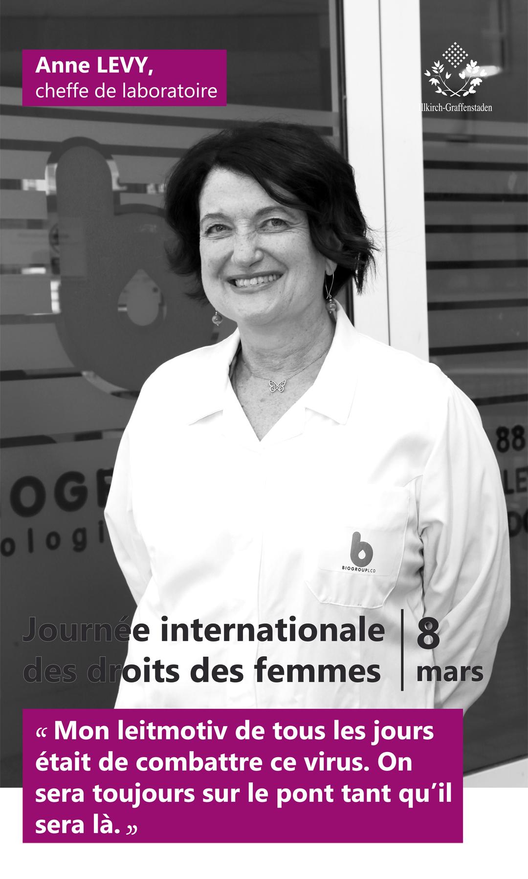Anne Levy - Journée internationale des droits des femmes