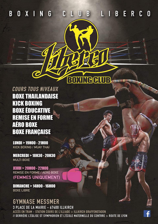 Flyer Boxing-Club-Liber'Co à Illkirch-Graffenstaden