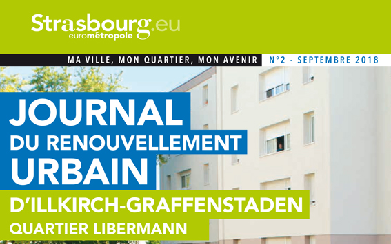 Journal du renouvellement urbain du Quartier Libermann distribué en septembre 2018
