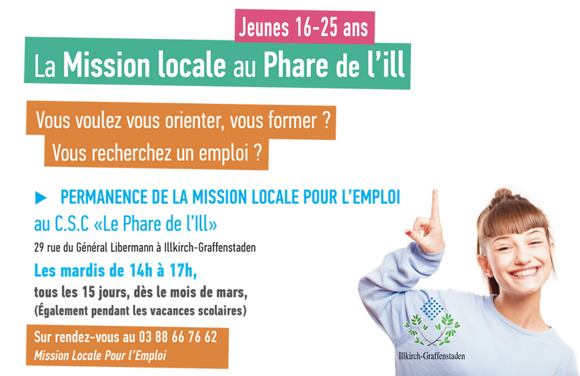 Permanences de la Mission Locale au Phare de l'Ill