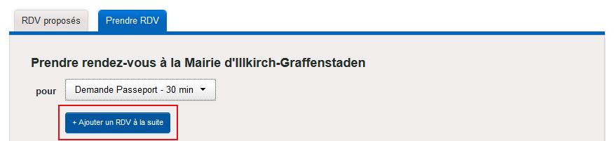 Rendez-vous à la suite pour carte d'identité et passeport à Illkirch-Graffenstaden