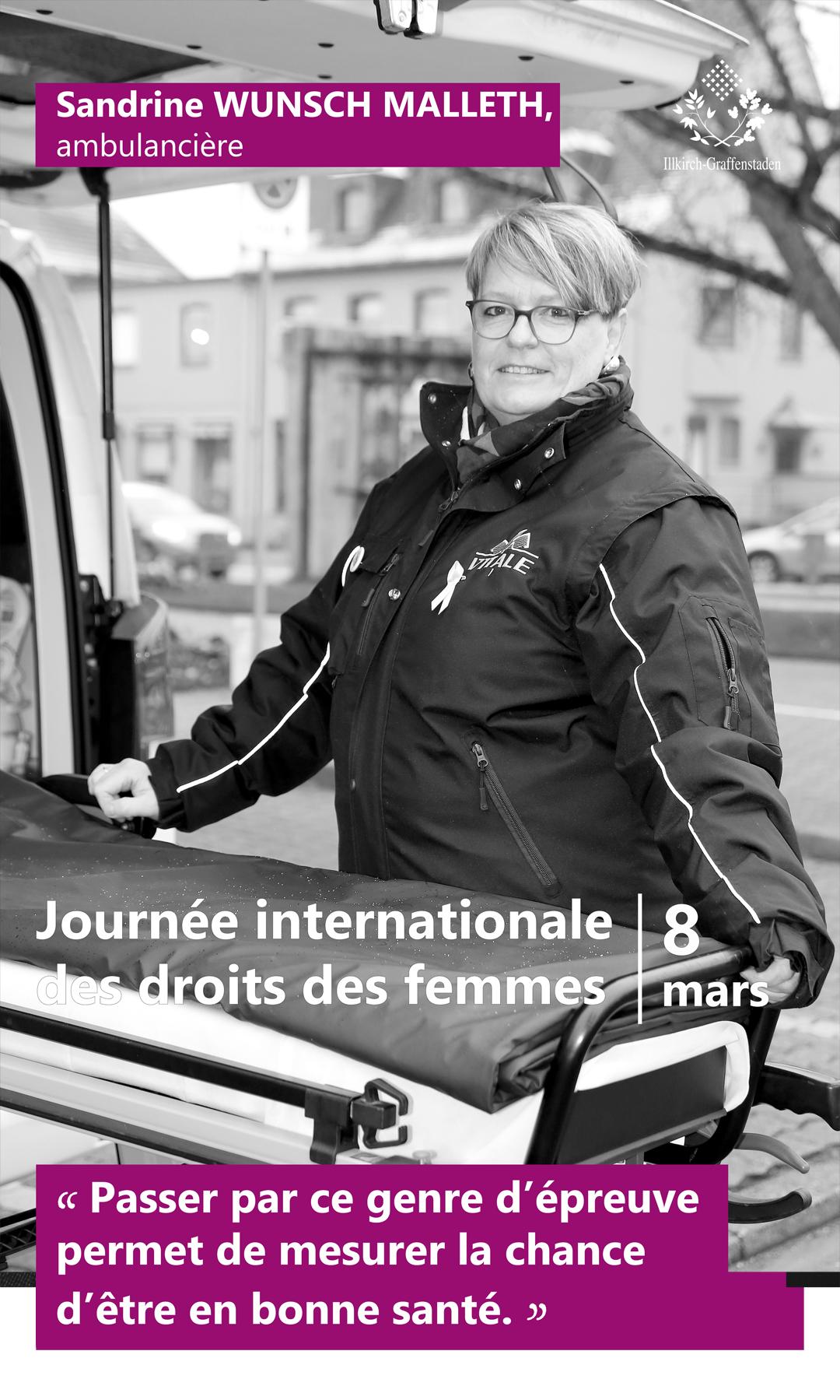 Sandrine Wunsch Malleth - Journée internationale des droits des femmes