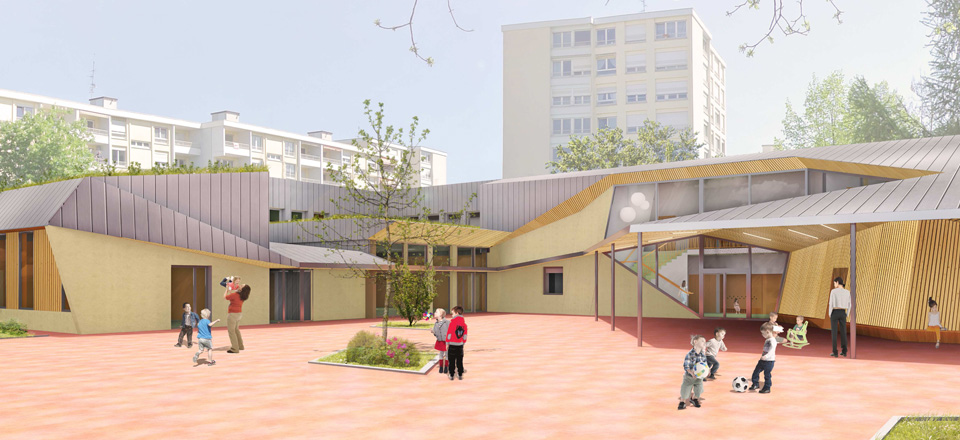 Extension et restructuration de l'école maternelle Lixenbuhl à Illkirch-Graffenstaden