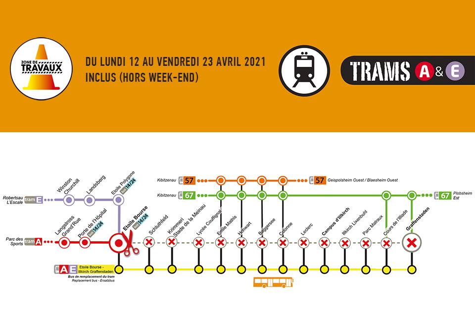 Tram : travaux sur les lignes A et E