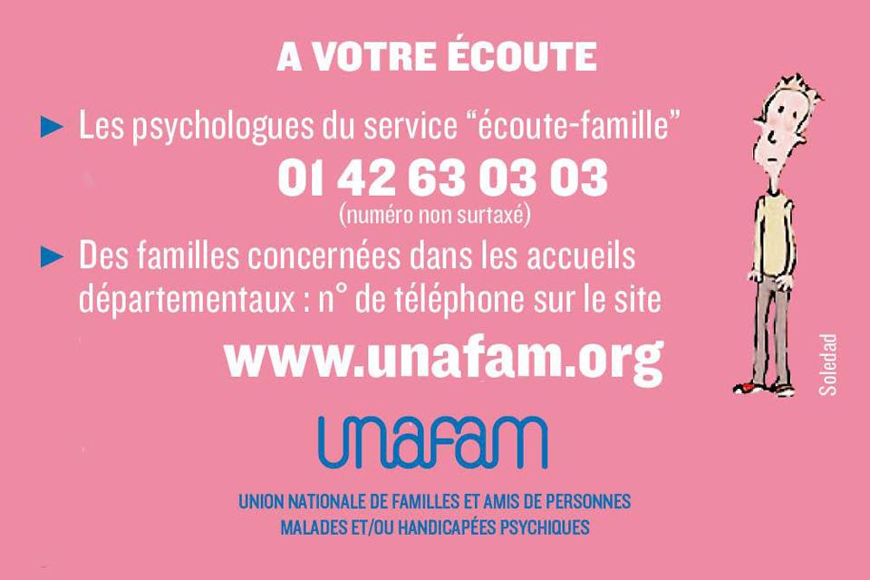 Permanences téléphoniques de l'UNAFAM
