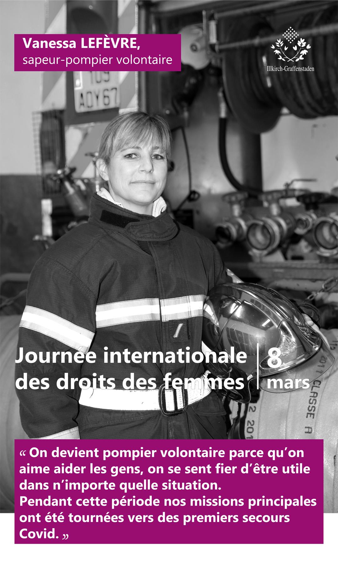 Vanessa Lefèvre - Journée internationale des droits des femmes