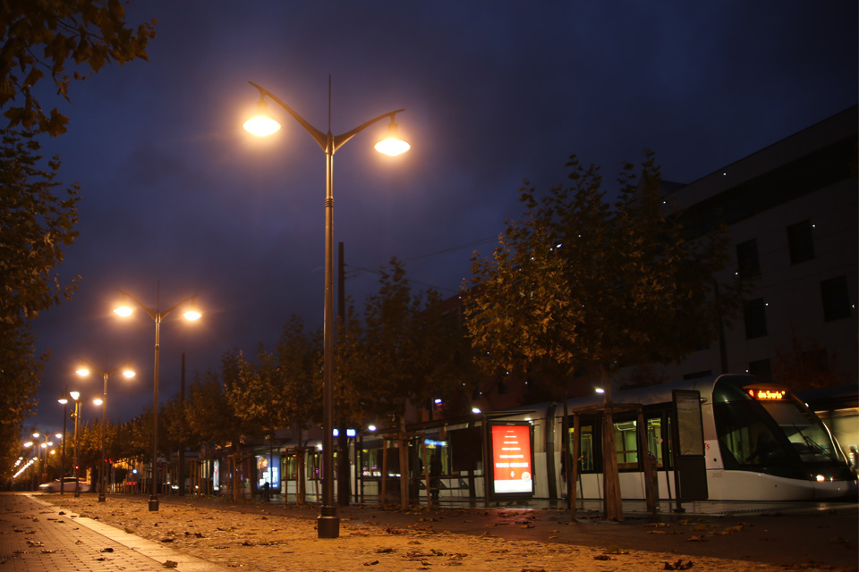 Eclairage public à Illkirch-Graffenstaden
