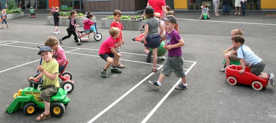 Enfants à l'école maternelle d'Illkirch-Graffenstaden
